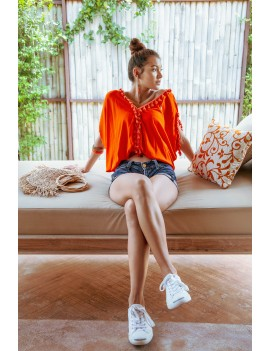 Top Koba - Orange Flamboyant