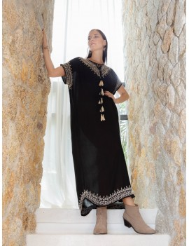 Long Hammamet Cover Up - Black