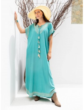 Long Hammamet Cover Up - Duck Blue