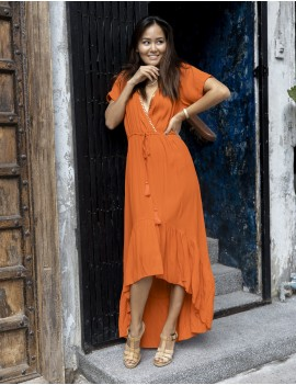 Kitty Dress - Orange Flamboyant