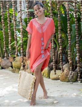 Hammamet Cover Up - Teaberry