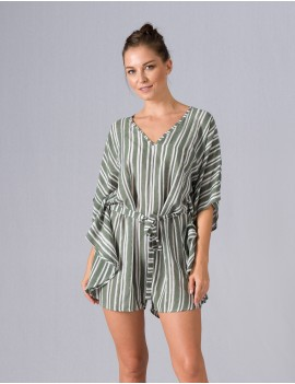 Butterfly Playsuit - Riviera Vetiver