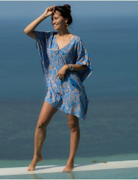Maio Cover Up - Rosebay Blue & Cantaloupe