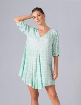 Mele Dress - Td Python Teal